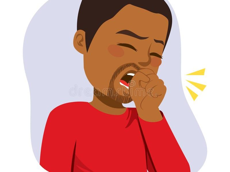 black-man-coughing-illustration-young-fist-front-mouth-125366862